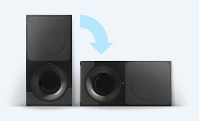 Subwoofer wireless in verticale o in orizzontale