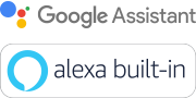 Logo Assistente Google e Amazon Alexa