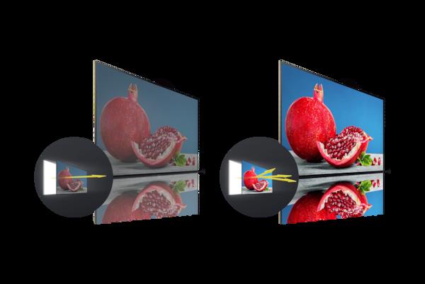 X-Wide Angle mantiene vividi e realistici i colori anche nella visione laterale