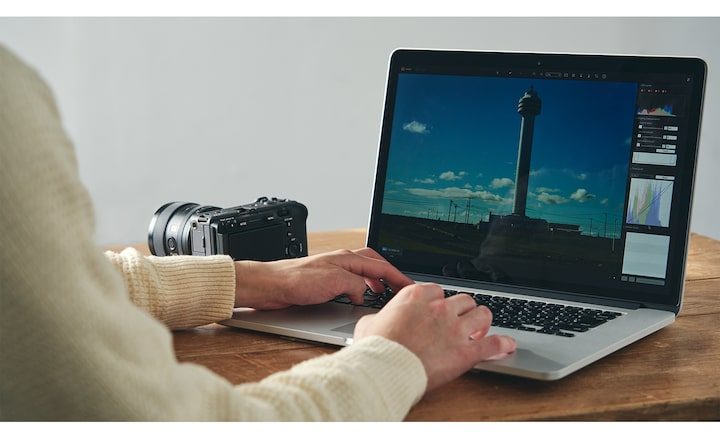 Immagine dell'editing con Imaging Edge su PC