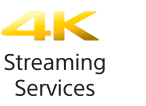 Logo servizi di streaming 4K Ultra HD