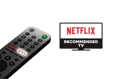 Consigliato da Netflix, telecomando che punta al TV