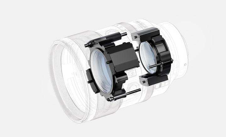Doppi motori lineari XD anteriore e posteriore per un AF rapido, veloce e preciso