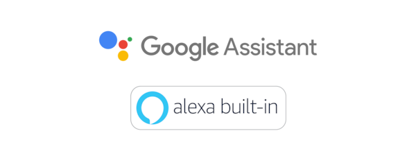 Loghi Assistente Google e Amazon Alexa