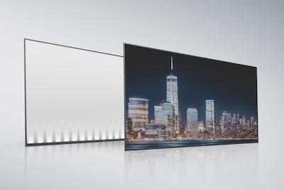 Schermo e pannello posteriore LCD a emissione laterale