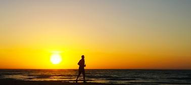 Slika morskega sončnega zahoda z gladilko 4K XR