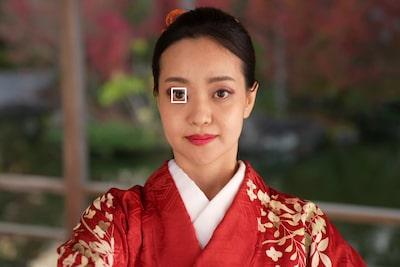 Riquadro AF sull'occhio sinistro del ballerino