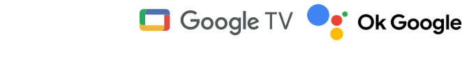 Loghi Google TV e Assistente Google