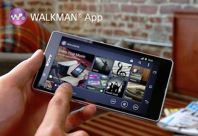 Dispositivo mobile con interfaccia dell'app WALKMAN®